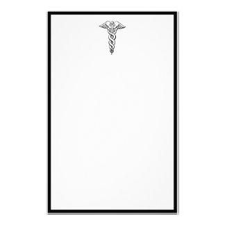 Símbolo médico del caduceo papeleria de diseño