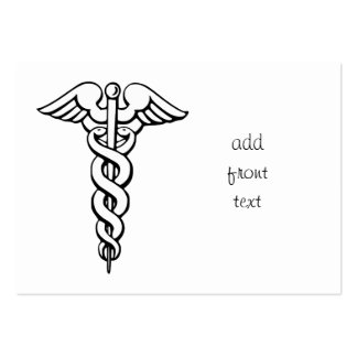 Símbolo médico del caduceo plantillas de tarjetas de visita
