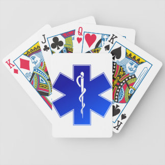 Símbolo médico del ccsme baraja cartas de poker