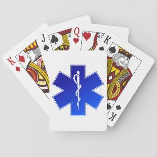 Símbolo médico del ccsme cartas de juego