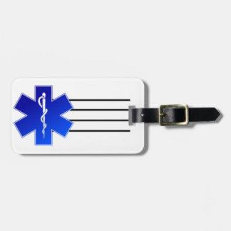 Símbolo médico del ccsme etiqueta de equipaje