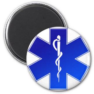 Símbolo médico del ccsme imán redondo 5 cm