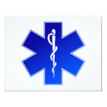 Símbolo médico del ccsme invitación personalizada