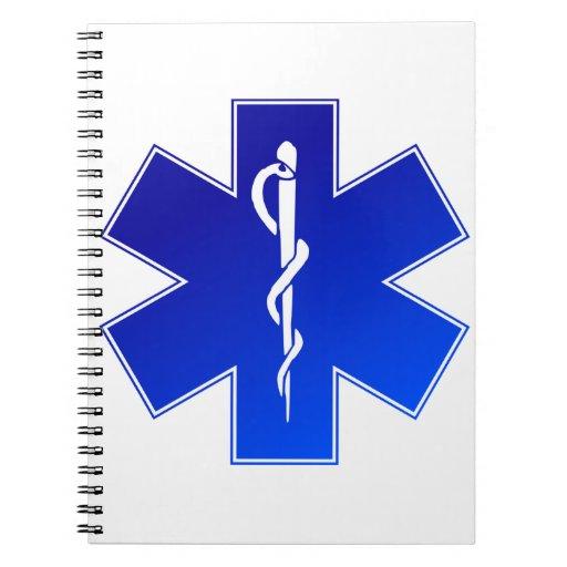 Símbolo médico del ccsme libro de apuntes