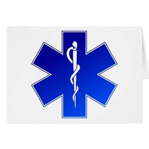 Símbolo médico del ccsme tarjeta de felicitación