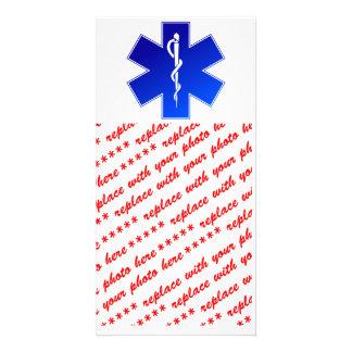 Símbolo médico del ccsme tarjeta fotografica