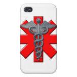Símbolo médico iPhone 4 cárcasas