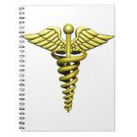 Símbolo médico libreta espiral