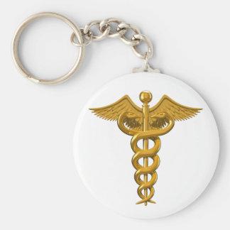 Símbolo médico llavero redondo tipo pin