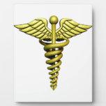 Símbolo médico placas de madera