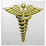 Símbolo médico servilleta