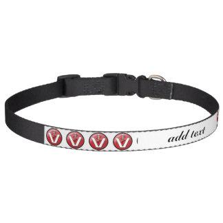 Símbolo médico veterinario collar para perro