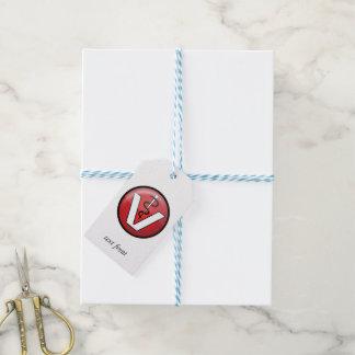 Símbolo médico veterinario etiquetas para regalos
