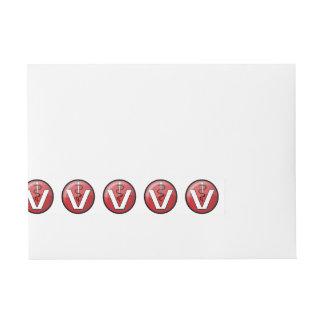 Símbolo médico veterinario etiquetas postales