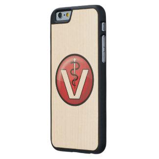 Símbolo médico veterinario funda de iPhone 6 carved® de arce