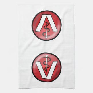 Símbolo médico veterinario toalla