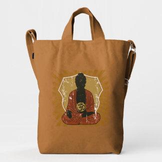 Símbolo Meditating de Buda OM Bolsa De Lona Duck