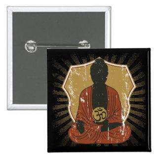 Símbolo Meditating de Buda OM Pins