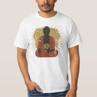 Símbolo Meditating de Buda OM Playera