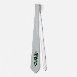Símbolo mesiánico con el lazo de la rama de la corbatas personalizadas