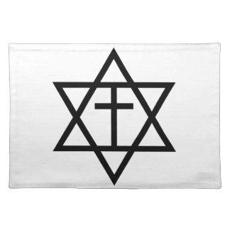 Símbolo mesiánico del judaísmo mantel individual