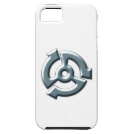 Símbolo metal metal iPhone 5 funda