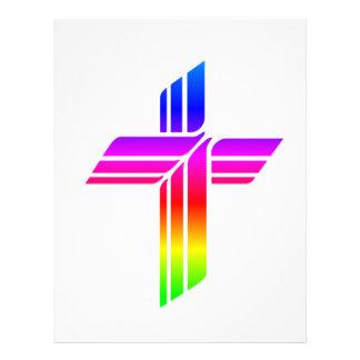 Símbolo metodista unido de la iglesia membrete personalizado