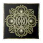Símbolo místico de piedra azulejos ceramicos
