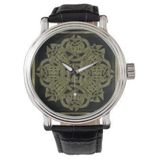 Símbolo místico de piedra relojes de mano
