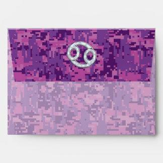 Símbolo moderno del zodiaco del cáncer en sobre