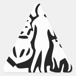 Símbolo mormón pegatina triangular