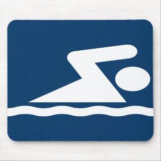 Símbolo Mousepad de la nadada