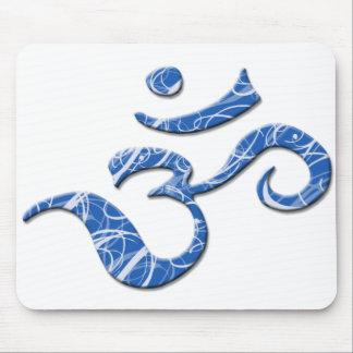 Símbolo Mousepad del ohmio en azul Tapete De Ratones