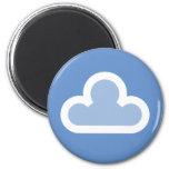 Símbolo mullido de la nube del tiempo iman de nevera