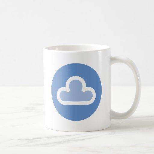 Símbolo mullido de la nube del tiempo taza clásica
