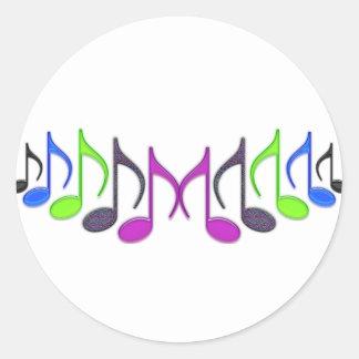 "Símbolo musical ""M "" Pegatina Redonda"