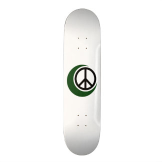 Símbolo musulmán islámico con el signo de la paz patines