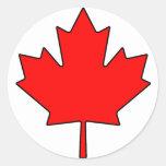 Símbolo nacional de Canadá de la hoja de arce cana Etiqueta