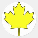 Símbolo nacional de Canadá de la hoja de arce cana Pegatina Redonda