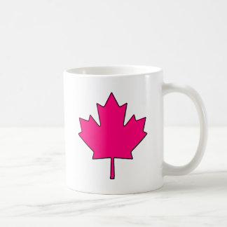 Símbolo nacional de Canadá de la hoja de arce cana Taza