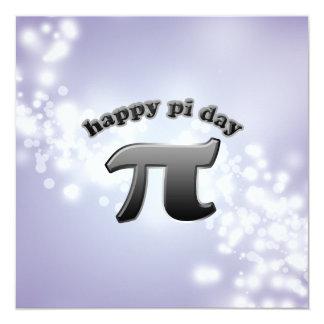 """Símbolo nacional del día pi del pi para invitación 5.25"""" x 5.25"""""""
