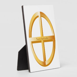 Símbolo nativo de la espiritualidad placas de madera