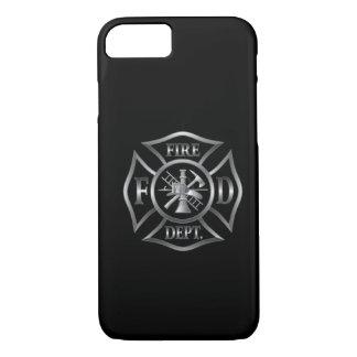 símbolo negro/de plata del caso del iPhone 7 del Funda iPhone 7