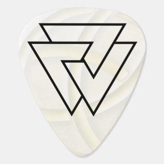 Símbolo negro de Valknut de los nórdises - imagen Púa De Guitarra