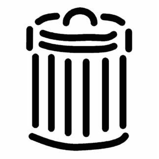 Símbolo negro del bote de basura fotoescultura vertical