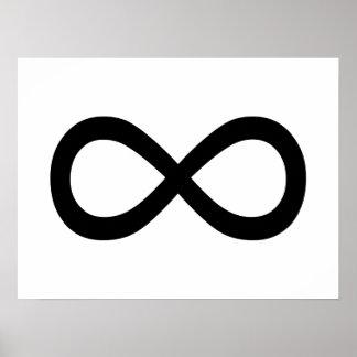 Símbolo negro del infinito posters