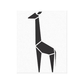 Símbolo negro moderno de la jirafa impresión en tela