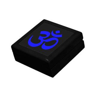Símbolo negro y azul de OM Cajas De Regalo