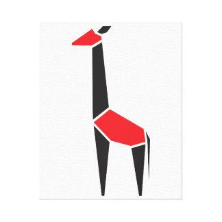 Símbolo negro y rojo moderno de la jirafa lona estirada galerias
