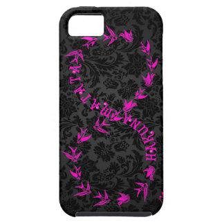 Símbolo negro y rosado del infinito de Hakuna iPhone 5 Carcasas